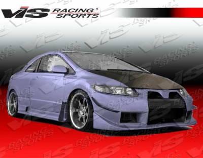 VIS Racing - Honda Civic 2DR VIS Racing Wide body GT Full Body Kit - 06HDCVC2DWBGT-099