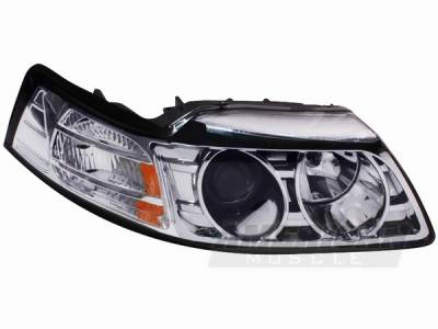 AM Custom - Ford Mustang Chrome Projector Headlights - 42007