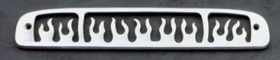 All Sales - All Sales Third Brake Light Cover - Flame Design - Brushed - 44115