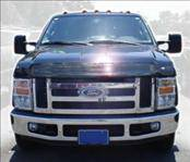 AVS - Ford Superduty AVS Bugflector II Hood Shield Deluxe - Oversized - Smoke - 45718