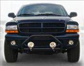 AVS - Dodge Dakota AVS Bugflector II Hood Shield - Deluxe - Smoke - 3PC - 45751