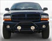 AVS - Dodge Dakota AVS Bugflector II Hood Shield Deluxe - Smoke - 3PC - 45751