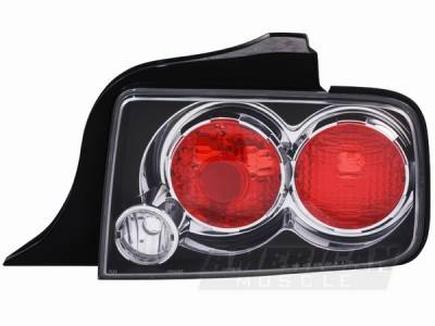 AM Custom - Ford Mustang Black Altezza Taillights - 49003