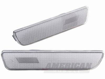 AM Custom - Ford Mustang Clear Rear Bumper Lens - 49027