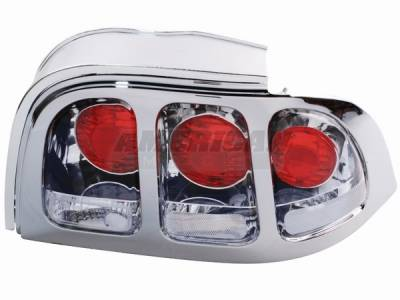 AM Custom - Ford Mustang Chrome Taillights - 49043