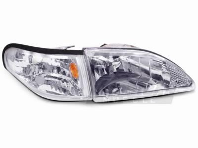 AM Custom - Ford Mustang Chrome Headlights - 49049