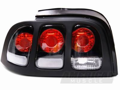 AM Custom - Ford Mustang Black Taillights - 49065
