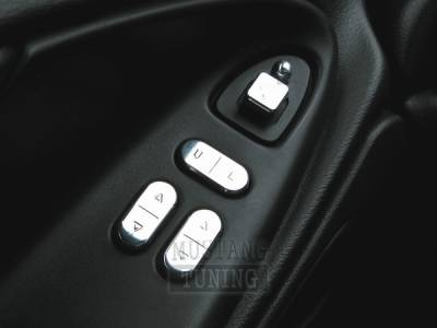 AM Custom - Ford Mustang Polished Billet Window Switch Kit - 54006