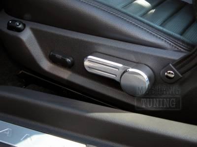 AM Custom - Ford Mustang Polished Billet Tilt Seat Levers - 54014