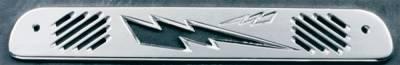 All Sales - All Sales Third Brake Light Cover - Lightening Bolt Design - Brushed - 74008