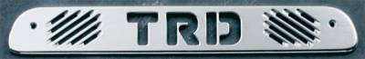 All Sales - All Sales Third Brake Light Cover - TRD Design - Brushed - 74009