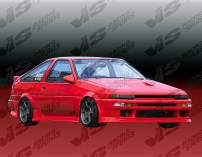 VIS Racing - Toyota Corolla VIS Racing V Speed Full Body Kit - 84TYCORHBVSP-099
