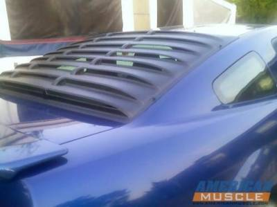 AM Custom - Ford Mustang Textured ABS Rear Window Louvers - 75000