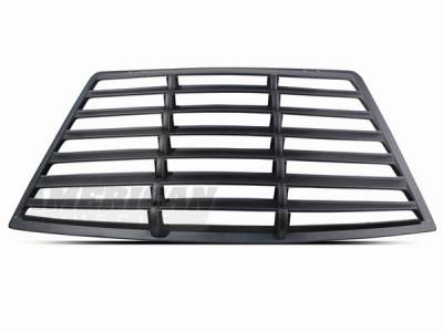 AM Custom - Ford Mustang Textured ABS Rear Window Louvers - 75004
