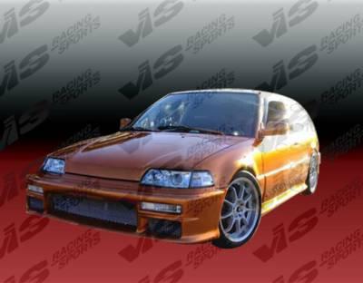 VIS Racing - Honda CRX VIS Racing Techno R Full Body Kit - 88HDCRXHBTNR-099