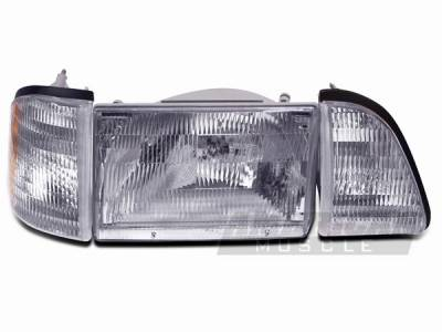 AM Custom - Ford Mustang Stock Style Head Light Kit - 94324