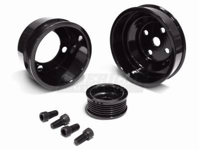 AM Custom - Ford Mustang 3-Piece Underdrive Pulley Kit - 94331