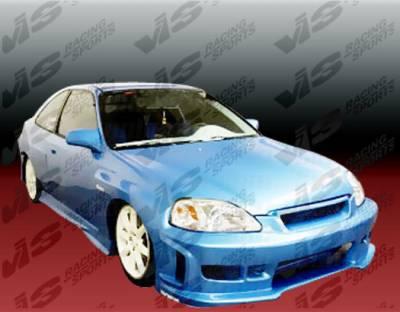 VIS Racing - Honda Civic 2DR VIS Racing Z1 boxer Full Body Kit - 96HDCVC2DZ1-099