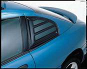 AVS - Chevrolet Cobalt AVS Aeroshade Side Window Covers - Black ABS - 2PC - 97749