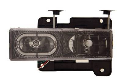 Anzo - GMC CK Truck Anzo Headlights - Crystal with Halo Carbon Fiber - 111005