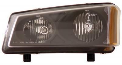 Anzo - Chevrolet Silverado Anzo Headlights - Crystal & Black - 111009