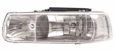 Anzo - Chevrolet Suburban Anzo Headlights - Crystal & Chrome - 111011