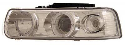 Anzo - Chevrolet Silverado Anzo Projector Headlights - with Halo Chrome - 111013