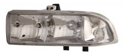 Anzo - Chevrolet S10 Anzo Headlights - Crystal & Chrome - 111014