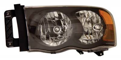 Anzo - Dodge Ram Anzo Headlights - Crystal & Black - 111022