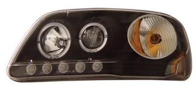 Anzo - Ford F150 Anzo Projector Headlights - with LED Halo - Black - 1PC - 111031