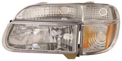 Anzo - Ford Explorer Anzo Headlights - Crystal with Amber Corner Chrome - 111040