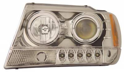 Anzo - Jeep Grand Cherokee Anzo Projector Headlights - with Halo Chrome - 111044