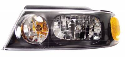 Anzo - Lincoln Navigator Anzo Headlights - Crystal & Black - 111046