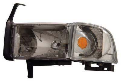 Anzo - Dodge Ram Anzo Headlights - Crystal & Chrome with Corner - 111068