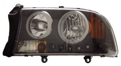 Anzo - Dodge Dakota Anzo Headlights - Crystal Clear Black with Amber Reflectors - 1PC - 111085