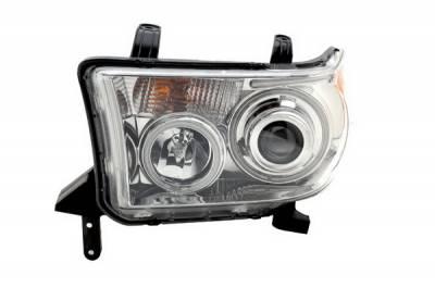 Anzo - Toyota Tundra Anzo Projector Headlights - Chrome with Halos - CCFL - 111130