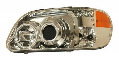 Anzo - Ford Explorer Anzo Projector Headlights - Chrome & Clear & Amber - 1PC - 111133