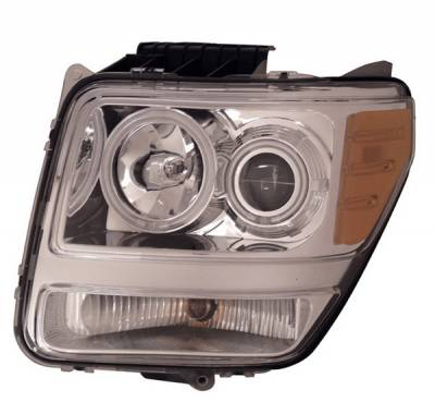 Anzo - Dodge Nitro Anzo Projector Headlights - Halo Chrome & Clear Amber- CCFL - 111139