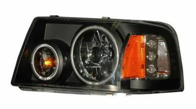 Anzo - Ford Ranger Anzo Projector Headlights - Halo Black Clear Amber - CCFL - 1PC - 111152
