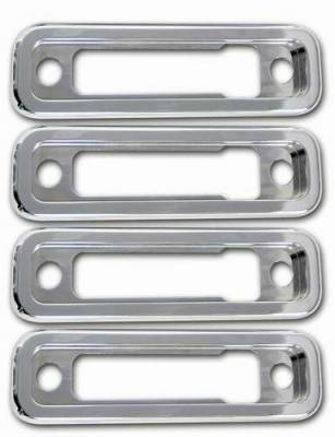 Pro-One - Pro-One Smooth Chrome Billet Marker Light Bezels - Set - H20008SC
