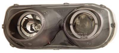 Anzo - Acura Integra Anzo Projector Headlights - with Halo Black - 121003