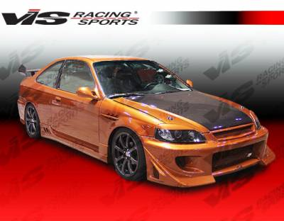 VIS Racing - Honda Civic 2DR VIS Racing Battle Z Full Body Kit - 99HDCVC2DBZ-099