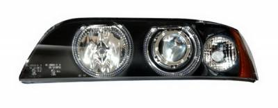 Anzo - BMW 5 Series Anzo Projector Headlights - Black & Clear with Halos - 121017