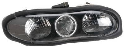 Anzo - Chevrolet Camaro Anzo Headlights - with Halo - Black - 121024