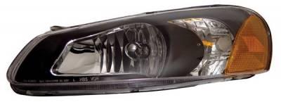 Anzo - Chrysler Sebring 4DR Anzo Headlights - Crystal & Black - 121026