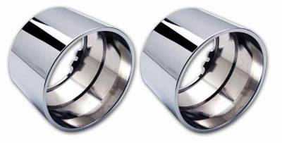 Pro-One - Pro-One Smooth Chrome Billet Driving Light Bezels - Pair - H20020SC