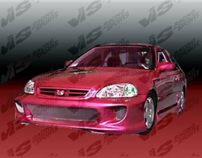 VIS Racing - Honda Civic 2DR VIS Racing Kombat-2 Full Body Kit - 99HDCVC2DKOM2-099