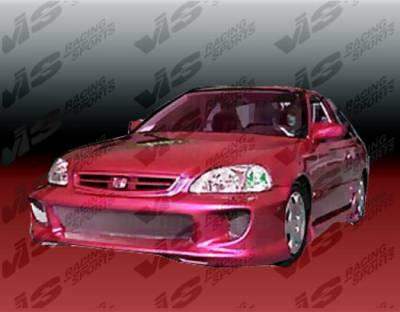 VIS Racing - Honda Civic 2DR VIS Racing Kombat-2 Full Body Kit - 99HDCVC2DKOM2-099