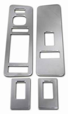 Pro-One - Pro-One Smooth Chrome Billet Door Switch Plates - Set - H20024SC