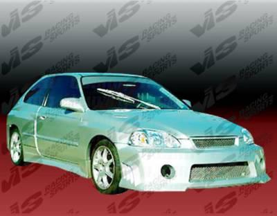 VIS Racing - Honda Civic 2DR VIS Racing Quest Widebody Full Body Kit - Polyurethane - 99HDCVC2DQST-099P